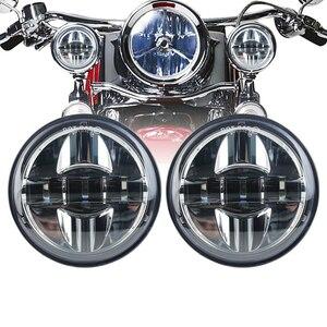 27 ワット 4-1/2 LEDフォグライト 4.5 インチLEDライトハウジングブラケットフォグランプ補助ランプバイク プロジェクターヘッ
