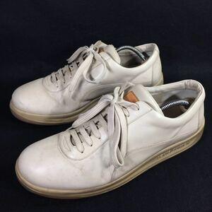 【ルイヴィトン】本物 LOUIS VUITTON 靴 27.5cm ベージュ色系 スニーカー カジュアルシューズ 本革 レザー 男性用 メンズ イタリア製 9