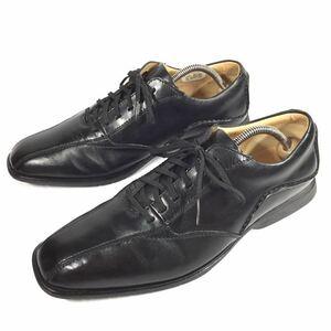 【クラークス】本物 Clarks 靴 25.5cm 黒 スニーカー カジュアルシューズ ビジネスシューズ 本革 レザー 男性用 メンズ UK 7 1/2 G