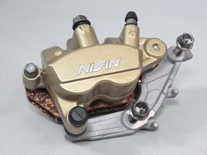 ☆CBR250RR MC51 純正 NISSIN/ニッシン フロントブレーキキャリパー サポート付き 実動車外し 検 ノーマル カスタム