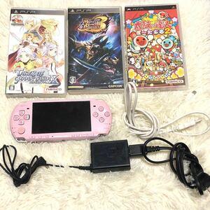 【 PSP 本体+ソフト3本セット 】