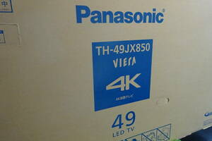 新品保証付 パナソニック Panasonic TH-49JX850 49V型 4K液晶テレビ 4Kダブルチューナー内蔵]