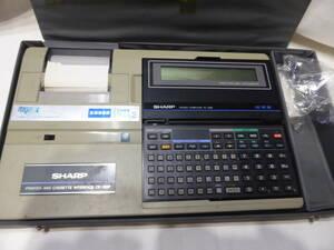 SHARP* sharp pocket computer POCKET COMPUTER PC-1280 electrification OK count measurement vessel 1 second kun 2 CE-120P not yet verification * junk treatment