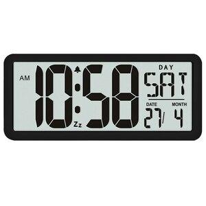 新品 13.8インチ大型デジタルジャンボ目覚まし時計 スクエア ウォールクロック 壁掛け 卓上 時計 大型 日付 湿度 インテリア オフィス