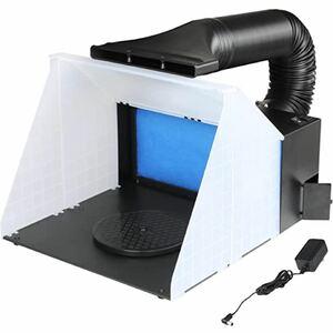 スプレーブースセット エアーブラシシステム スプレーワーク ペインティングブース エアブラシ用 排気ダクト付き塗装ブース