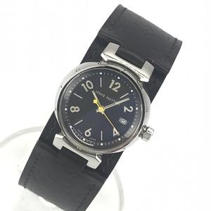 LOUIS VUITTON ルイヴィトン Q1211 タンブール レディース 腕時計 クオーツ ブラウン文字盤 アラビアインデックス 3針 デイト 管理YK23048