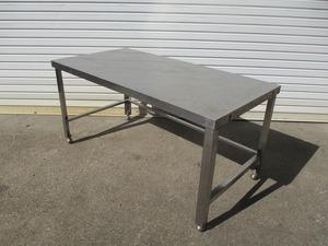 y1674-20 業務用 ステンレス ガス台 W1200×D600×H590 ワークテーブル 店舗用品 中古 厨房