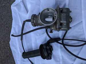 スズキ RM125 レーサー ビンテージ モトクロスSUZUKI ミクニ キャブレター キャブ キャブレーター 1981 7型 アクセル ワイヤー 固着無し