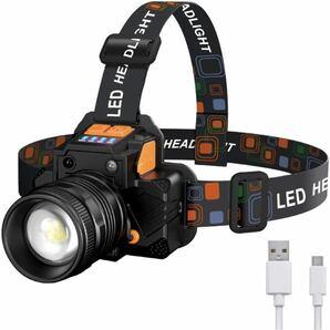 ヘッドライト ヘッドランプ 高輝度 ヘッドライト usb充電式 4000mAh大容量バッテリー 三つ点灯モード ズーム機 能付き 800ルーメン 明るさ