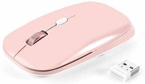 ワイヤレスマウス、超薄型マウス 無線マウス 低噪音 携帯便利