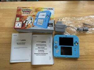 3DS  2DS 欧州版 海外版  ポケモン ポケットモンスター 限定 箱付き 本体 NINTENDO ニンテンドー サン ダウンロード済