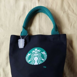【S-104】Starbucks  黒トートバッグ
