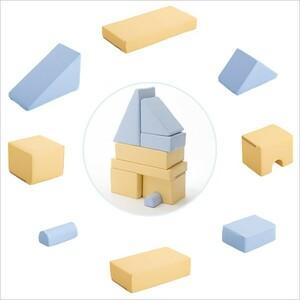 積み木クッション【BLOCCHI-ブロッチ-】 8個セット おもちゃ 積み木 知育 クッション キッズ用品