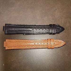 【未使用】CHAUMET ショーメ 腕時計 革ベルト 二本セット 10/20㎜ 黒/茶