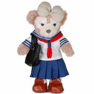 [520B] セーラー服とスクールバッグのセット 43cm Sサイズ ダッフィー シェリーメイ用 衣装 ハンドメイドコスチューム