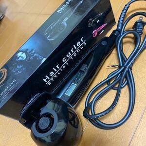 ヘアアイロン オートカールアイロン ミラカール 自動巻き髪 電動カールアイロン 自動で巻けちゃう 温度時間調節可能