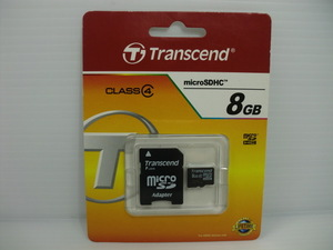 未使用・未開封品 microSDHCカード Transcend 8GB 送料84円 (定形郵便) メモリーカード microSDカード マイクロSDカード