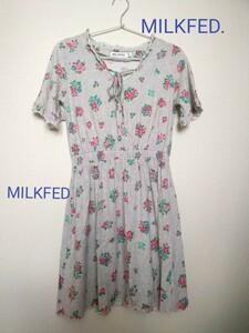 花柄Tシャツ/ワンピース【MILKFED.】