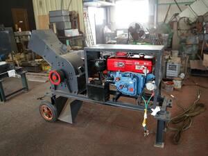 ハンマークラッシャー 破砕機 粉砕機 ディーゼルエンジン セル式 小割 がれき処理 産廃 解体