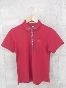 ◇ ●美品● srixon スリクソン 半袖 ポロシャツ L レッド * 1002799090858