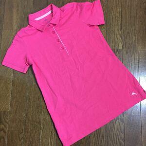 Tommy Bahama トミーバハマ ポロシャツ レディース サイズXS ピンク系 半袖 トップス (管理番号284)