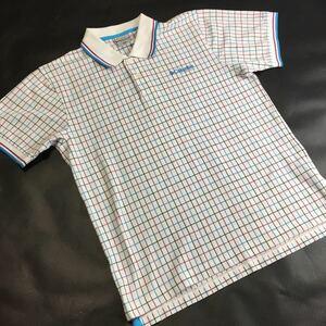 Columbia コロンビア ポロシャツ サイズM チェック柄 半袖 トップス (管理番号7300)