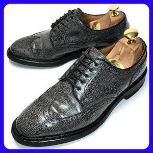 ★即決 REGAL SHOES ORIGIANL 24cm ウィングチップ メンズ グレー 灰色 リーガル 日本製 革靴 レザーシューズ 本革 ビジネス 中古 *管理921