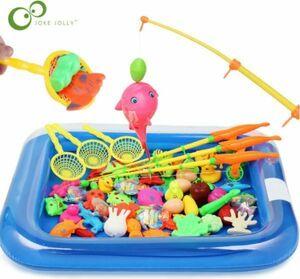CSN610#魚釣り リール付き おもちゃ 知育玩具 お風呂 プールゲーム 子供 男の子 女の子 セット 磁気 水遊び 魚