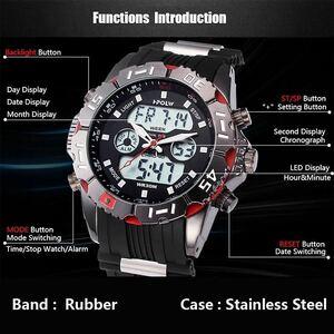 LDL719#海外メーカー アナログメンズ&デジタル メンズスポーツ クオーツ 腕時計クォーツ アナデジ LED 防水 スポーツウォッチ