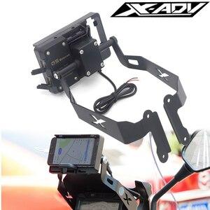 ★未使用★ホンダ X-ADV 750 XADV 750 2017-2019 スタンドホルダー カスタム 電話携帯電話 GPS プレートブラケット電話ホルダー USB