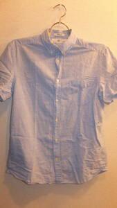 ★H&M★エイチアンドエムレディーストップスシャツ半袖 Ladies Tops Size S サイズS  USED IN JAPAN MENS? 右ボタン