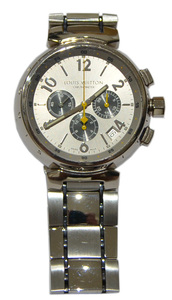 ルイヴィトン LOUIS VUITTON Q11430 タンブール クロノ LV CUP 20周年記念 120本限定 750WG 腕時計 Y-25416B