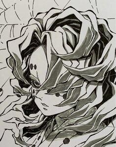 鬼滅の刃 【下弦の伍・累】 コラボDINING 複製ミニ色紙 弐 吾峠呼世晴 アニプレックス ufotable