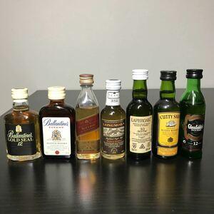 スコッチウィスキー などミニボトル セット(未開封・古酒)
