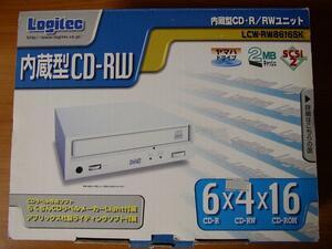 Logitec LCW-RW8616SK(内蔵型CD-R/RWユニット、SCSI-2、ヤマハドライブ、2MBキャッシュ、CD-R/6倍速、CD-RW/4倍速、CD-ROM/16倍速)