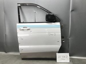 ★ぱっと見キレイ SR40G トヨタ ライトエース ノア 平成10年 純正 フロント 右 ドア パネルAssy M308 電格 ミラー付 2EM 銀/ベージュ