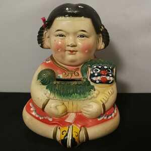土人形 沖縄 琉球 シーサー 貯金箱 置物 民芸 郷土玩具