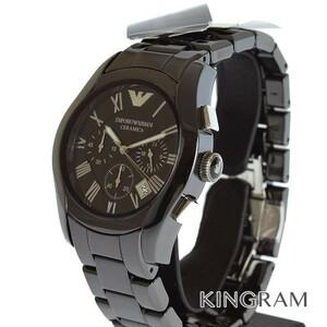 エンポリオ・アルマーニ AR1400 アウトレット セラミカ クロノグラフ クォーツ メンズ 腕時計 rkd【中古】