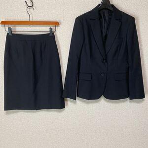 スーツカンパニー 36 W64 スカートスーツ 黒 就活 洗濯可 DMW