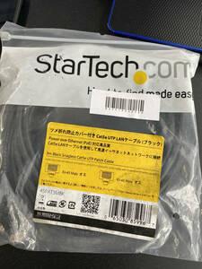 StarTech.com カテゴリー5e LANケーブル 3m ブラック RJ45コネクタ(ツメ折れ防止カバー付き) イーサネット対応Cat5e UTPケーブル 45PAT3MBK