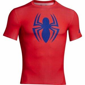 アンダーアーマー スパイダーマン 半袖Tシャツ アンダーシャツ インナーシャツ ヒートギア コンプレッション 1244399 レッド Sサイズ 新品