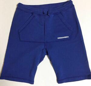 DSQUARED2 スウェット ハーフ パンツ 新品 14Y ブルー ディースクエアード sweat half pants ショーツ blue 青 ショート