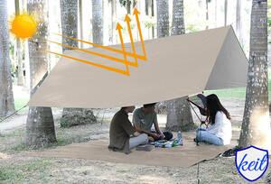 防水タープ Linkax タープ テント 遮熱 UVカット 耐水加工 サンシェード キャンプ アウトドア ポータブル