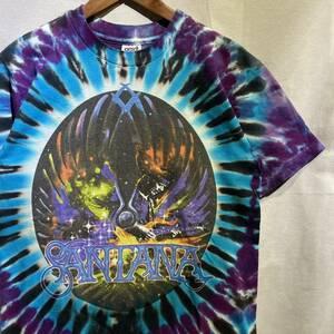【希少】90s SANTANA バンド Tシャツ USA製 ヴィンテージ anvil タイダイ M バンT / グレイトフルデッド Bob Marley Woodstock Nirvana 80s
