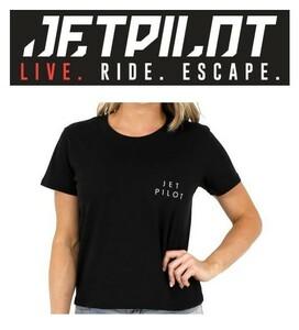 Джет пилот  JETPILOT T рубашка   Марин  3480 йен  Хитоси  один   Бесплатная доставка   Справиться   женщины  S/S TEE W20009  черный  14/XL
