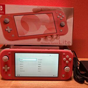 【美品】Nintendo Switch lite コーラル ニンテンドー スイッチライト ピンク