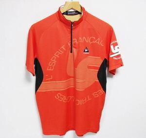 le coq sportif GOLF COLLECTION ルコックゴルフ ハーフジップ 半袖シャツ Mサイズ ハイネック