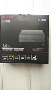 未使用★テレビ録画用 4R-C40B1 USBハードディスク 4.0TB AQUOS SHARP シャープ アクオス