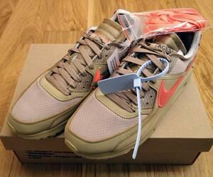海外正規品 新品未使用 26.5cm US8.5 Nike × off white Air max 90 desert the ten ナイキ オフホワイト VIRGIL ABLOH エアマックス90