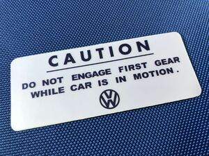 air cooling VW CAUTION sticker -58 *50s 25HP 36HP split oval stand engine non synchronizer mission Beetle bus original